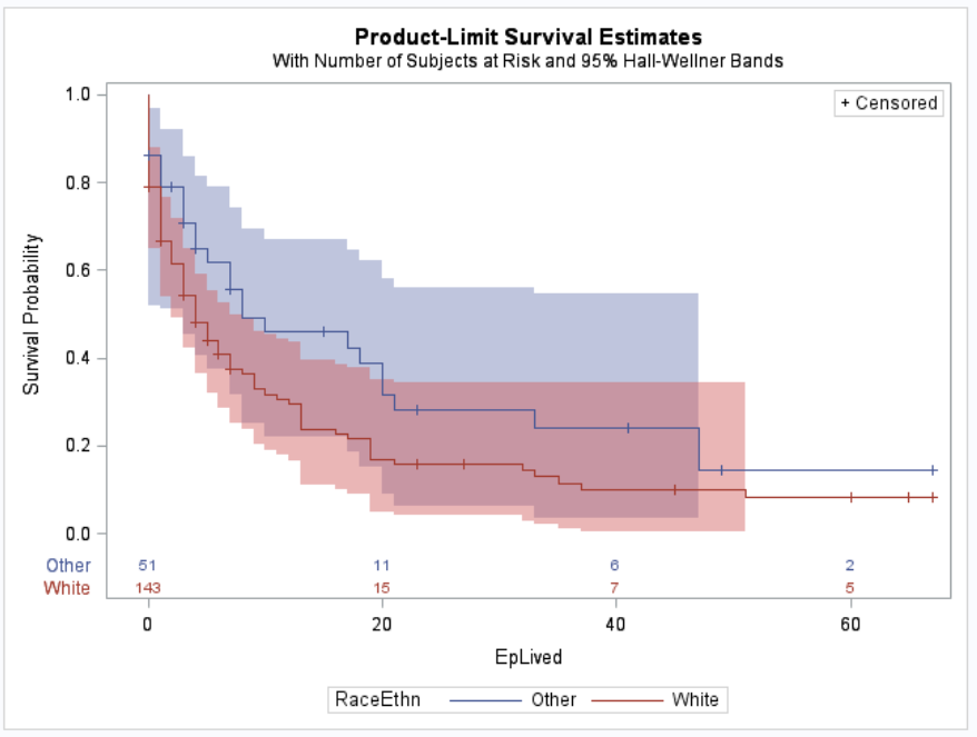 Survival Function - White vs Other